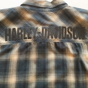 Harley Davidson Plaid Button Down Shirt 3XL